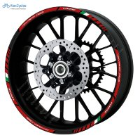 Agusta Corse Rivale Motorcycle Laminated Wheel Rim Decals Stickers Stripes Kit