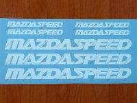 MAZDA SPEED 3 5 6 CX7 RX7 RX8 Mazdaspeed Decal Sticker Emblem Logo