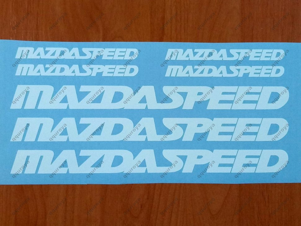 138r MAZDA SPEED 3 5 6 CX7 RX7 RX8 Mazdaspeed Decal Sticker Emblem Logo RED